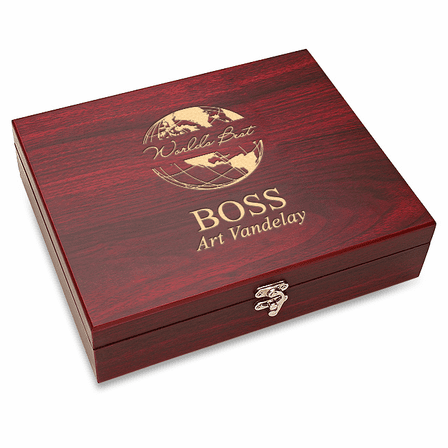 World's Best Boss 5 Piece Wine Accessory Set