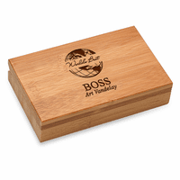 World's Best Boss Bamboo  2 Piece Wine Tool Set