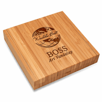 World's Best Boss Bamboo Cheese Set With Tools