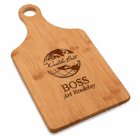 World's Best Boss Bamboo Paddle Shape Cutting Board