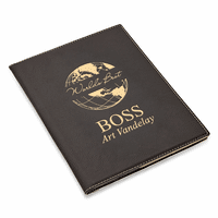 World's Best Boss Black Leatherette Mini Portfolio
