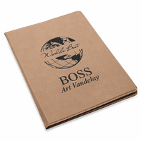 World's Best Boss Brown Leatherette Portfolio & Pad Holder