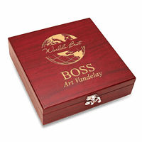 World's Best Boss  Flask & Gaming Set