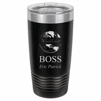World's Best Boss Personalized 20 Ounce Black Polar Camel Travel Mug