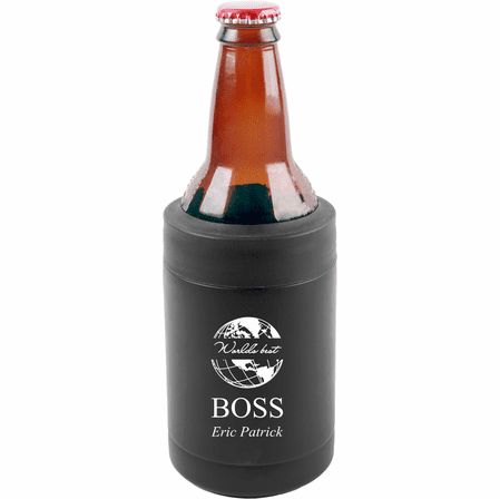 World's Best Boss Personalized Insulated Can & Bottle Holder