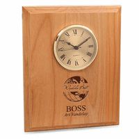 World's Best Boss Red Alder Recognition Wall Clock