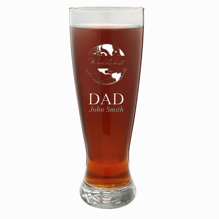 World's Best Dad  22 Ounce Grand Pilsner Glass