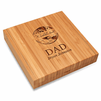 World's Best Dad Bamboo Cheese Set With Tools