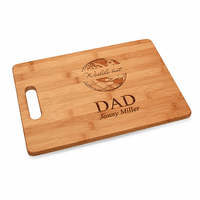 World's Best Dad Bamboo Cutting Board With Handle