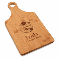 World's Best Dad Bamboo Paddle Shape Cutting Board
