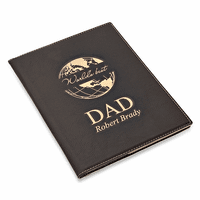 World's Best Dad Black Leatherette Mini Portfolio