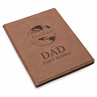 World's Best Dad Brown Leatherette Mini Portfolio