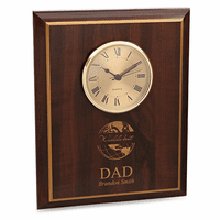 World's Best Dad Cherry Finish Recognition Wall Clock