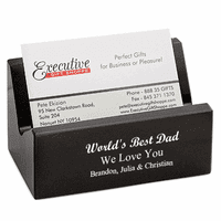 World's Best Dad Desktop Business Card Holder