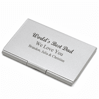 World's Best Dad Engraved Business Card Case