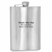 World's Best Dad Engraved  Flask