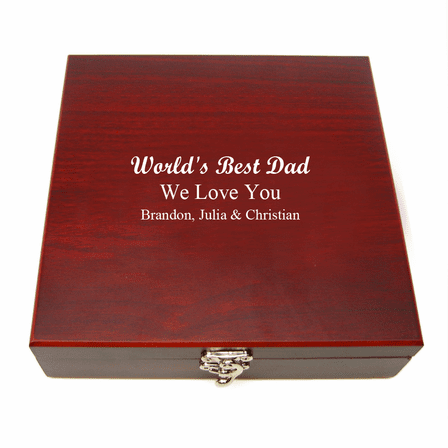World's Best Dad Engraved Flask & Gaming Set