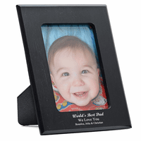 World's Best Dad Personalized Marble Photo Frame