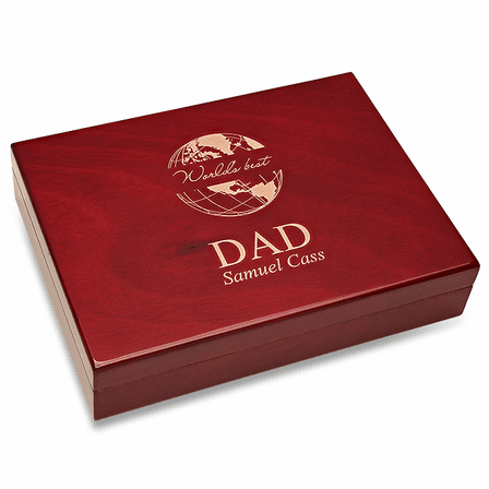 World's Best Dad Piano Finish 30 Cigar  Humidor