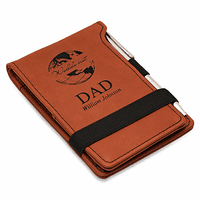 World's Best Dad Rawhide Leatherette Notepad & Pen