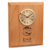 World's Best Dad Red Alder Recognition Wall Clock