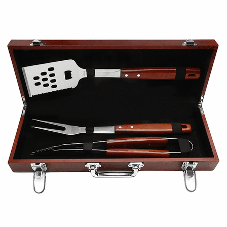 World's Best Dad  Rosewood Barbecue Set