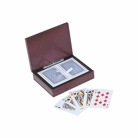 World's Best Dad  Rosewood Finish Playing Card Box