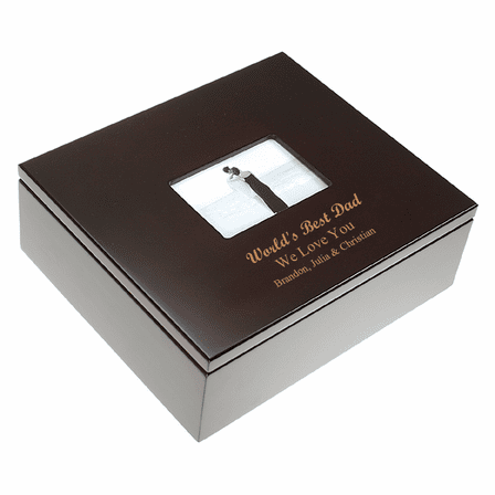 World's Best Dad Treasure Box with Photo Frame