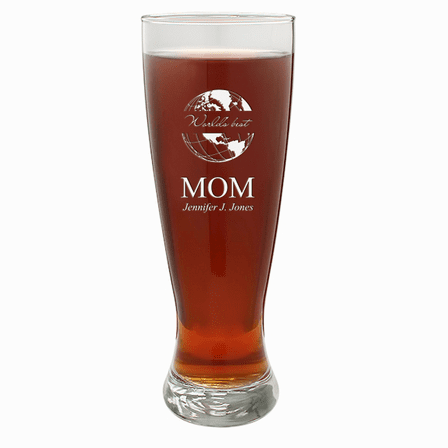 World's Best Mom  22 Ounce Grand Pilsner Glass
