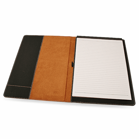 World's Best Mom Black Leatherette Portfolio & Pad Holder