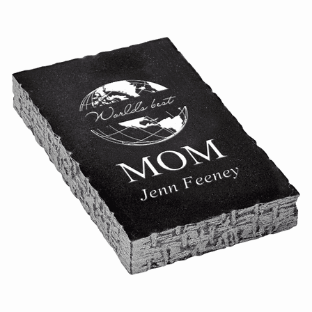 World's Best Mom Black Marble Paperweight