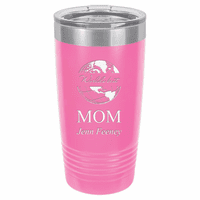 World's Best Mom Personalized 20 Ounce Pink Polar Camel Travel Mug