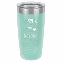 World's Best Mom Personalized 20 Ounce Teal Polar Camel Travel Mug
