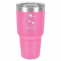 World's Best Mom Personalized 30 Ounce Pink Polar Camel Ringneck Tumbler