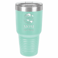 World's Best Mom Personalized 30 Ounce Teal Polar Camel Ringneck Tumbler