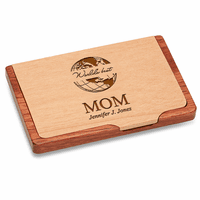 World's Best Mom  Pocket/Desktop Business Card Holder