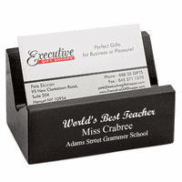 World's Best Teacher Desk Business Card Holder