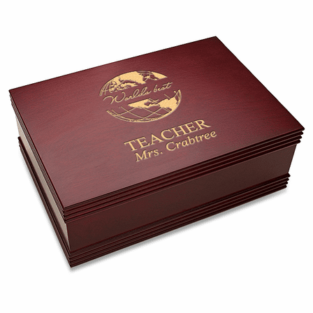 World's Best Teacher  Desktop Keepsake Box
