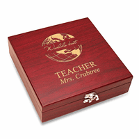 World's Best Teacher  Flask & Gaming Set