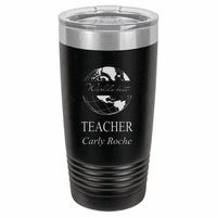 World's Best Teacher Personalized 20 Ounce Black Polar Camel Travel Mug