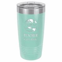 World's Best Teacher Personalized 20 Ounce Teal Polar Camel Travel Mug