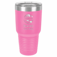 World's Best Teacher Personalized 30 Ounce Pink Polar Camel Ringneck Tumbler