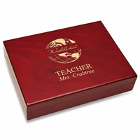 World's Best Teacher Piano Finish 30 Cigar  Humidor