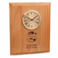 World's Best Teacher Red Alder Recognition Wall Clock