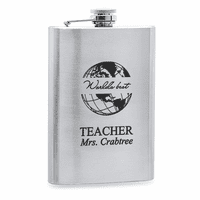 World's Best Teacher  Stainless Steel Flask