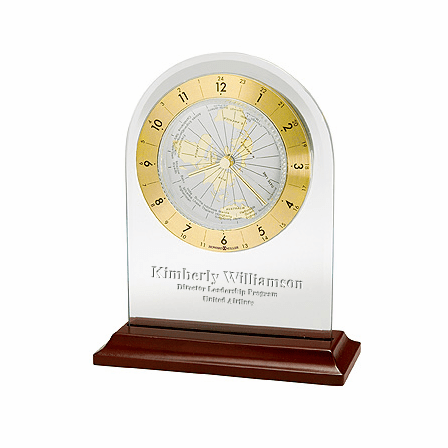 World Time Arch Tabletop Clock by Howard Miller