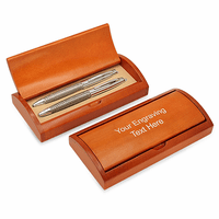 Woven Steel Double Pen Gift Set