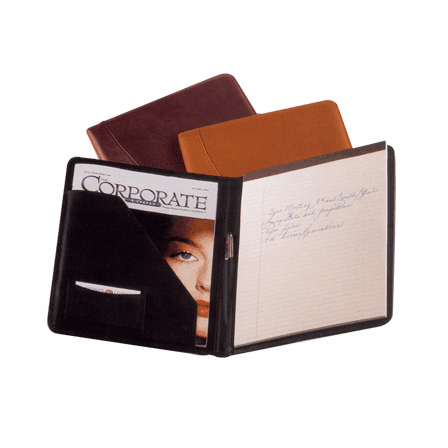 Writing padfolio in Top Grain Napa Leather  by Royce Leather