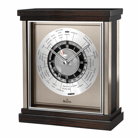 Wyndmere World Time Tabletop Clock by Bulova