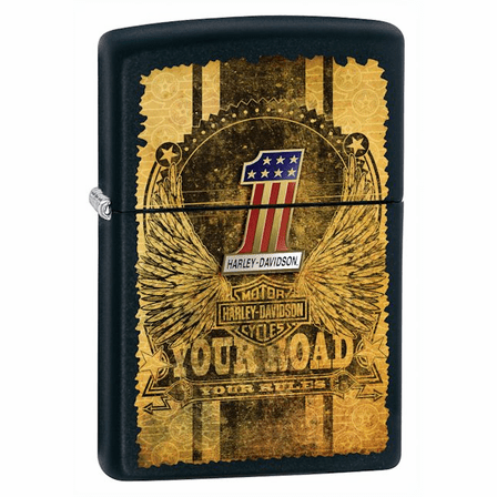 Your Road Your Rules Black Matte Zippo Lighter - ID# 28350 - Discontinued